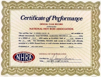 NHRA National Record